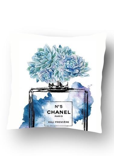 Lyn Home & Decor Chanel Mavi Yastık Kılıfı Renkli